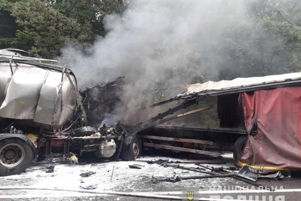 Біля с. Брищі на Млинівщині зіткнулися дві габаритні вантажівки