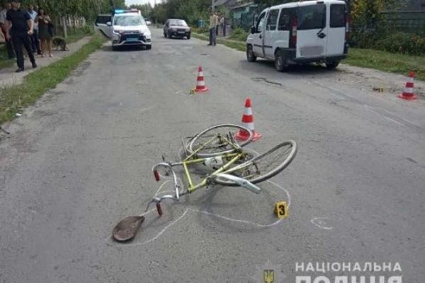 У Дубні сьогодні сталося ДТП з велосипедистом