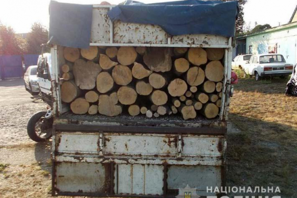 Здолбунівські правоохоронці вилучили деревину