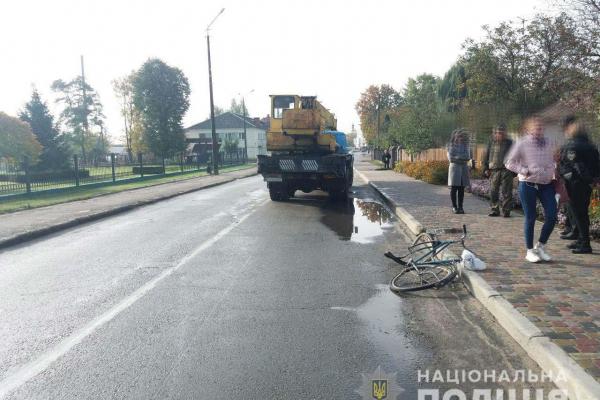 Велосипедистка постражлала у ДТП, що сталося на Рівненщині