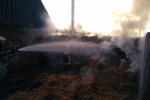 На Володимиреччині горіла солома