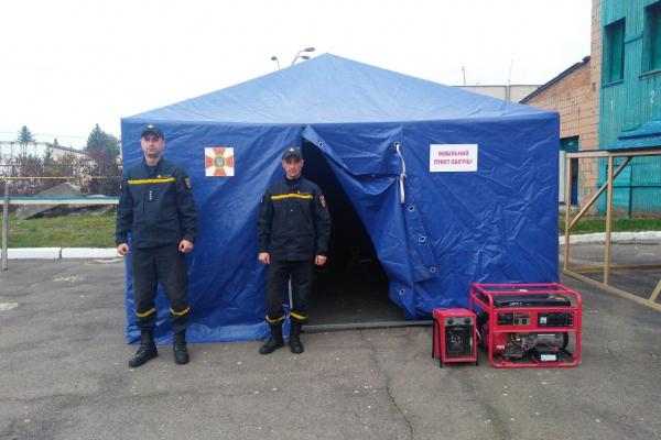 Рівненські рятувальники перевірили готовність мобільного пункту обігріву