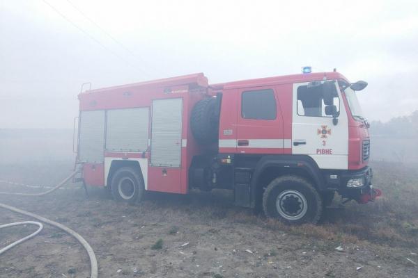 Рівненські рятувальники ліквідували пожежу у житловому будинку (Фото)