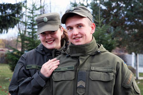Юнак із Сарненщини зустрів своє кохання на Львівському полігоні