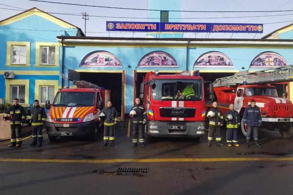 Рівненські рятувальники вшанували загиблих в одеській трагедії