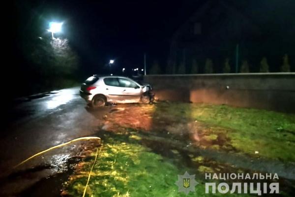 На Рівненщині водій автомобіля «Peugeot 206» втік з місця ДТП