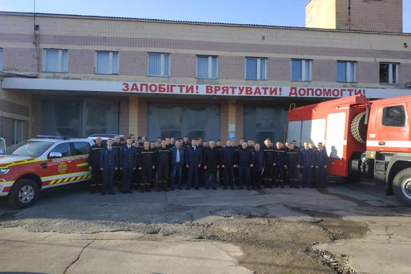 Володимир Хомко привітав керівництво та особовий склад Рівненського міськрайонного управління ДСНС