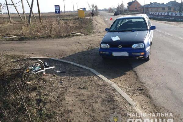 На Березнівщині нетверезий велосипедист потрапив під колеса авто