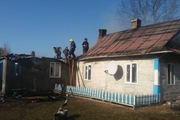 На Костопільщині горів житловий будинок