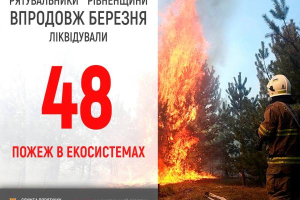 На території Рівненщини зросла кількість пожеж