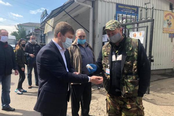 Володимир Хомко разом з Віталієм Ковалем проінспектували рівненські ринки