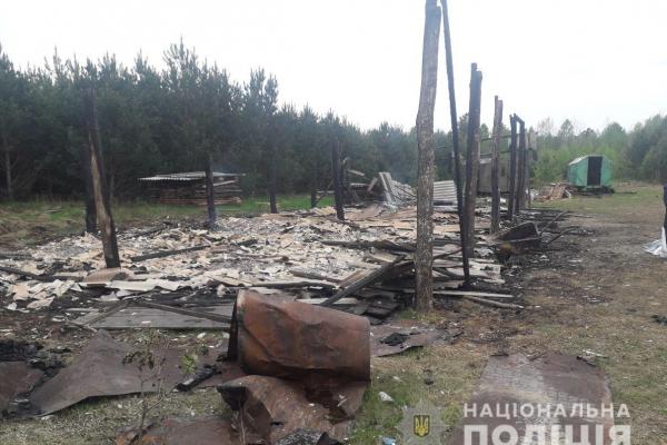 На Рівненщині поліція встановлює, чому горів торф'яний склад (ФОТО)