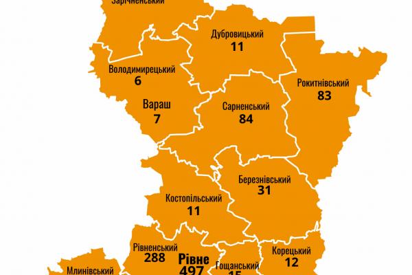 На Рівненщині зафіксовано 1204 випадки захворювання на коронавірус, з них  29 - летальні