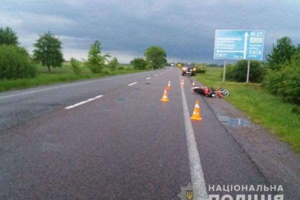 На Рівненщині ДТП. Мотоциклістам нагадують про обережність!