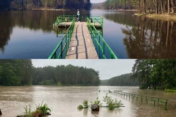 Ставок в селі Оржів затопило (ФОТО)
