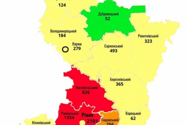 Ситуація з COVID-19 на Рівненщині станом на 20 серпня