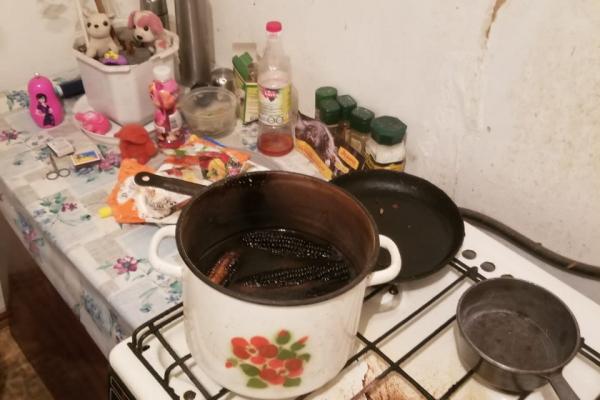 Підігріваючи їжу, рівнянка ледь не спалила помешкання