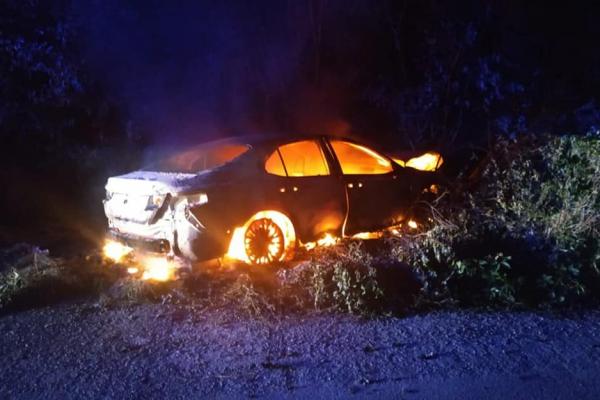 Поблизу Тучина палала автівка