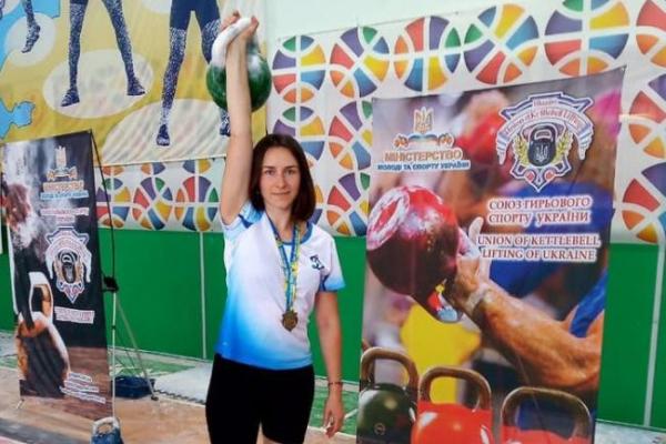 Оксана Рабош із міста Сарни стала чемпіонкою з гирьового спорту
