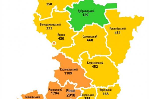 COVID-19: ситуація на Рівненщині станом на 27 вересня