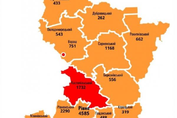 Антирекорд: на Рівненщині зростає кількості хворих на COVID-19, зафіксовано 5 летальних випадків
