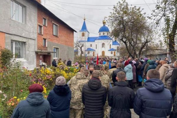 На Володимиреччині попрощалися з військовим, який отримав смертельне поранення на кордоні