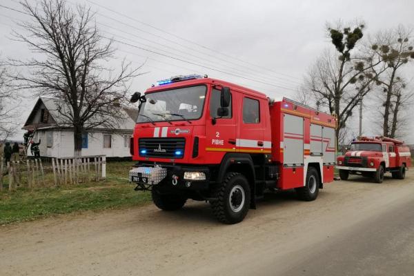У селі Іваничі палав будинок