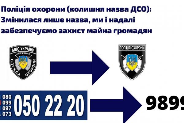 Поліція охорони змінює безкоштовні номери контакт-центру на один єдиний