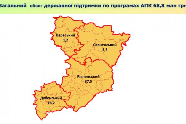 У яких районах Рівненщини найактивніше залучають державні кошти?
