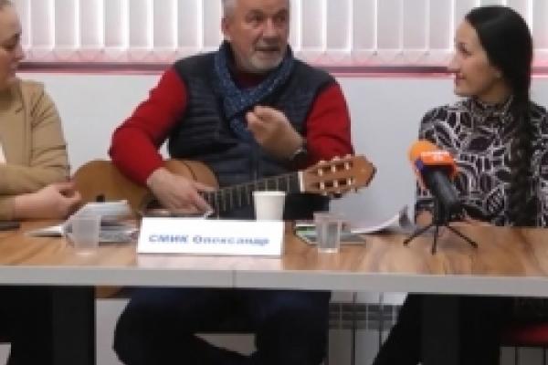 Відомий український поет та виконавець Олександр Смик вболіває за долю сучасної співаної поезії (ВІДЕО)
