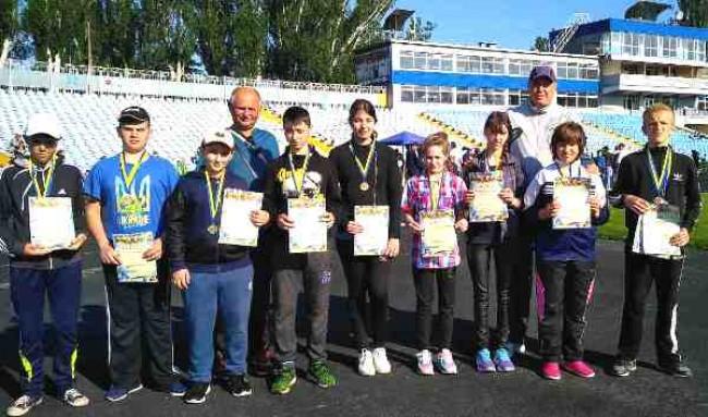 21 медаль привезли із Всеукраїнської спартакіади з легкої атлетики діти з інвалідністю