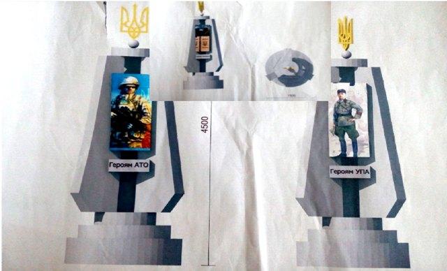 Як буде виглядати пам'ятник українським Героям у Корці? (Фото)
