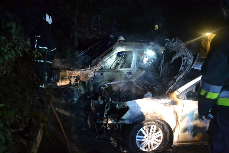 Рятувальники оприлюднили відео з місця пожежі автомобіля
