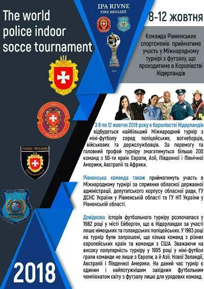 У Міжнародному турнірі з футзалу братимуть участь і рівняни