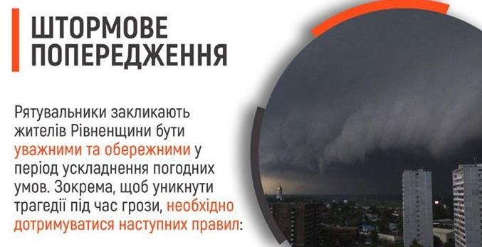 Увага, рівняни: штормове попередження!
