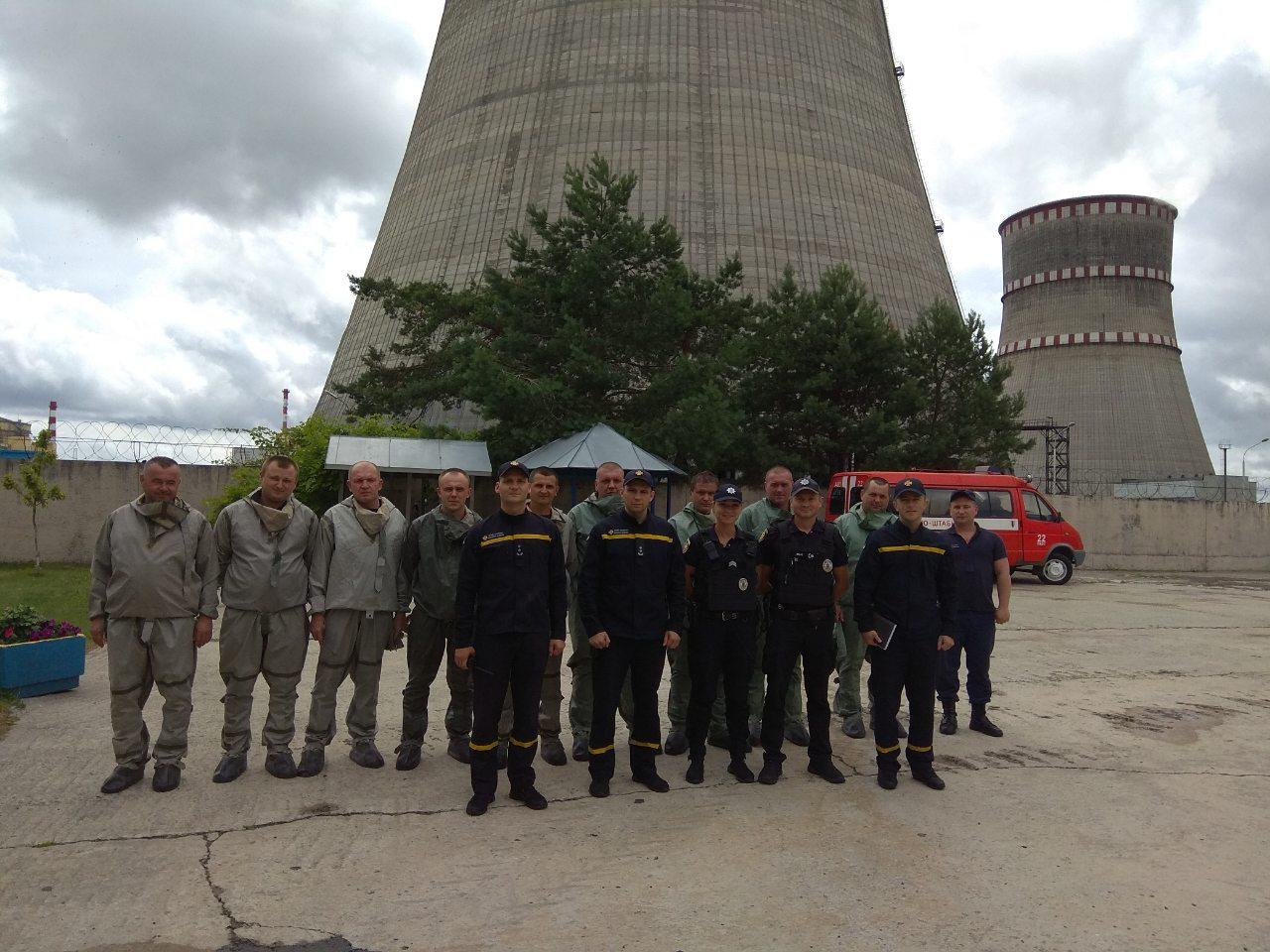 Рятувальники з охорони Рівненської АЕС відпрацювали ввідну по ліквідації аварії