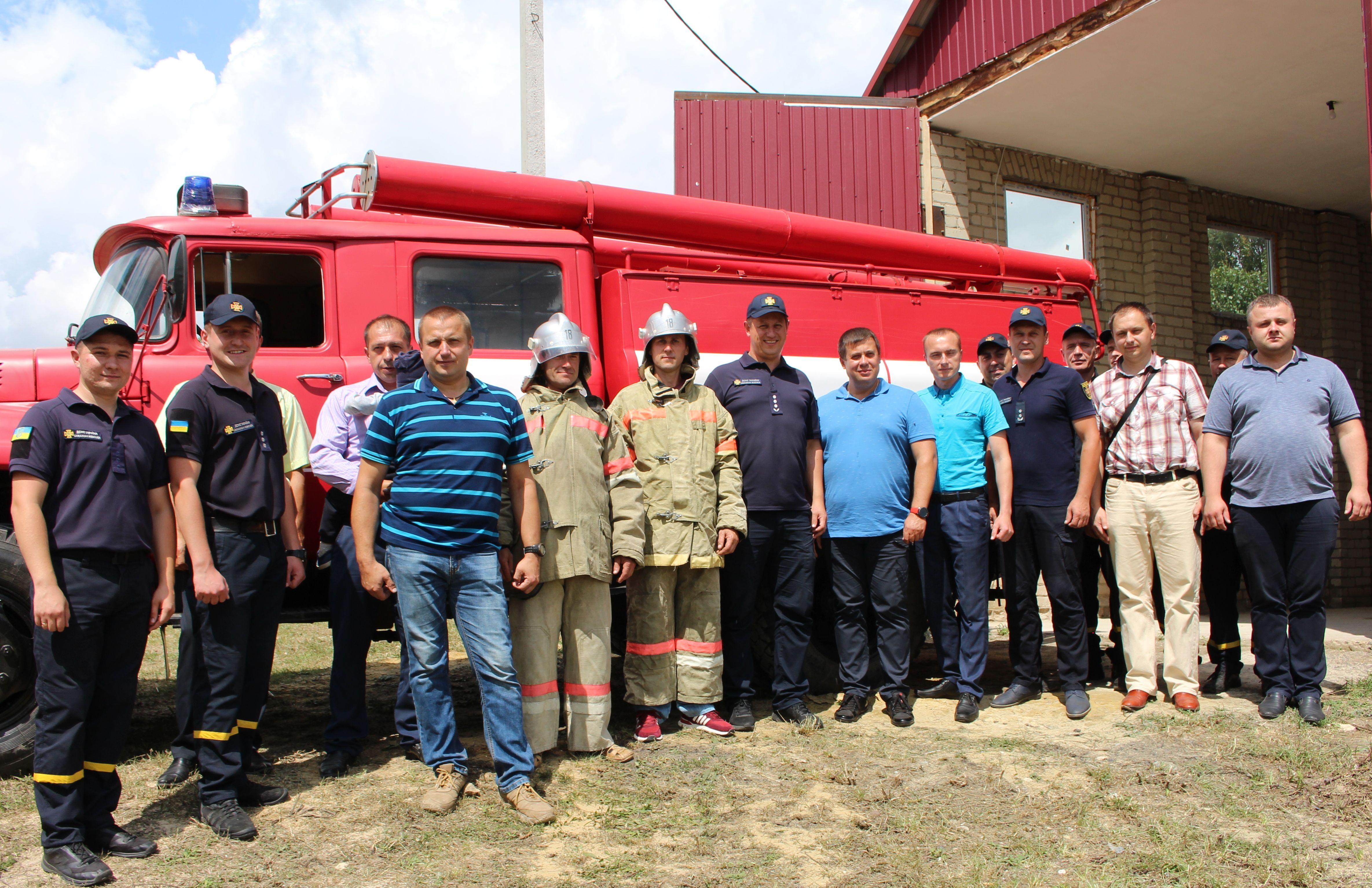 На Здолбунівщині перша в районі місцева пожежна команда розпочала функціонування