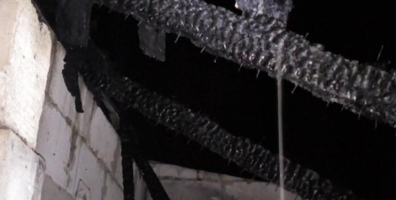 На Рівненщині минулої ночі горів гараж