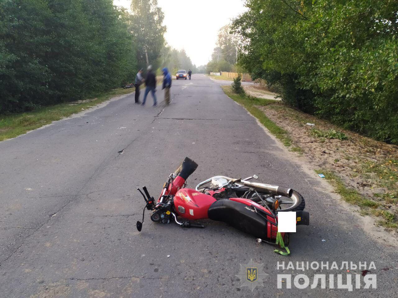 Троє рівненських мотоциклістів потрапили у ДТП
