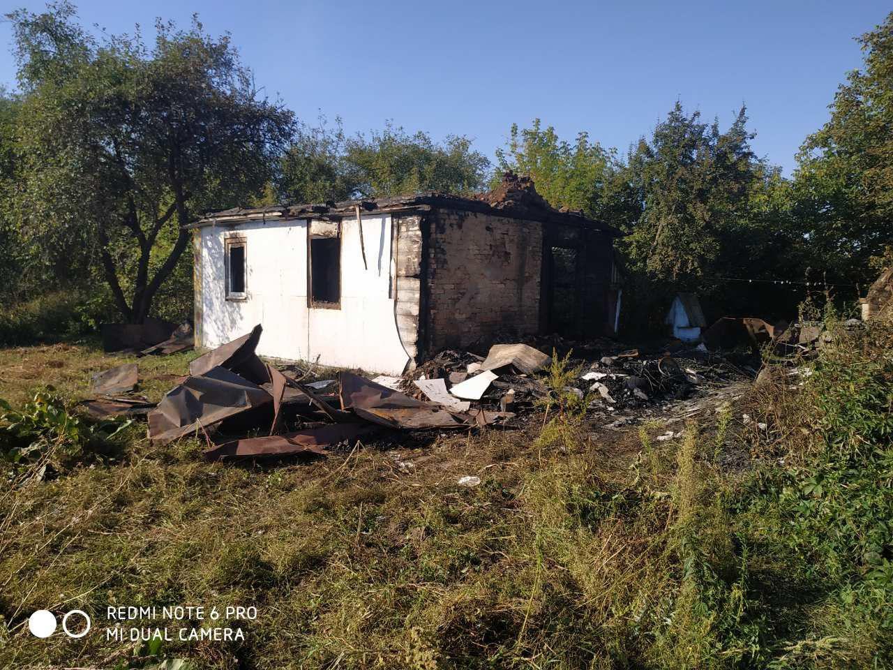 На Кореччині власник помешкання отримав опіки під час пожежі