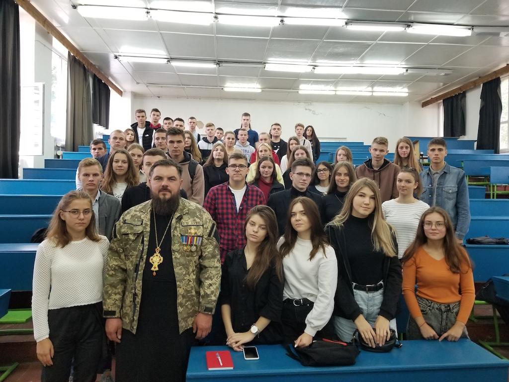 Капелан Рівненської єпархії завітав до студентів НУВГП із лекцією
