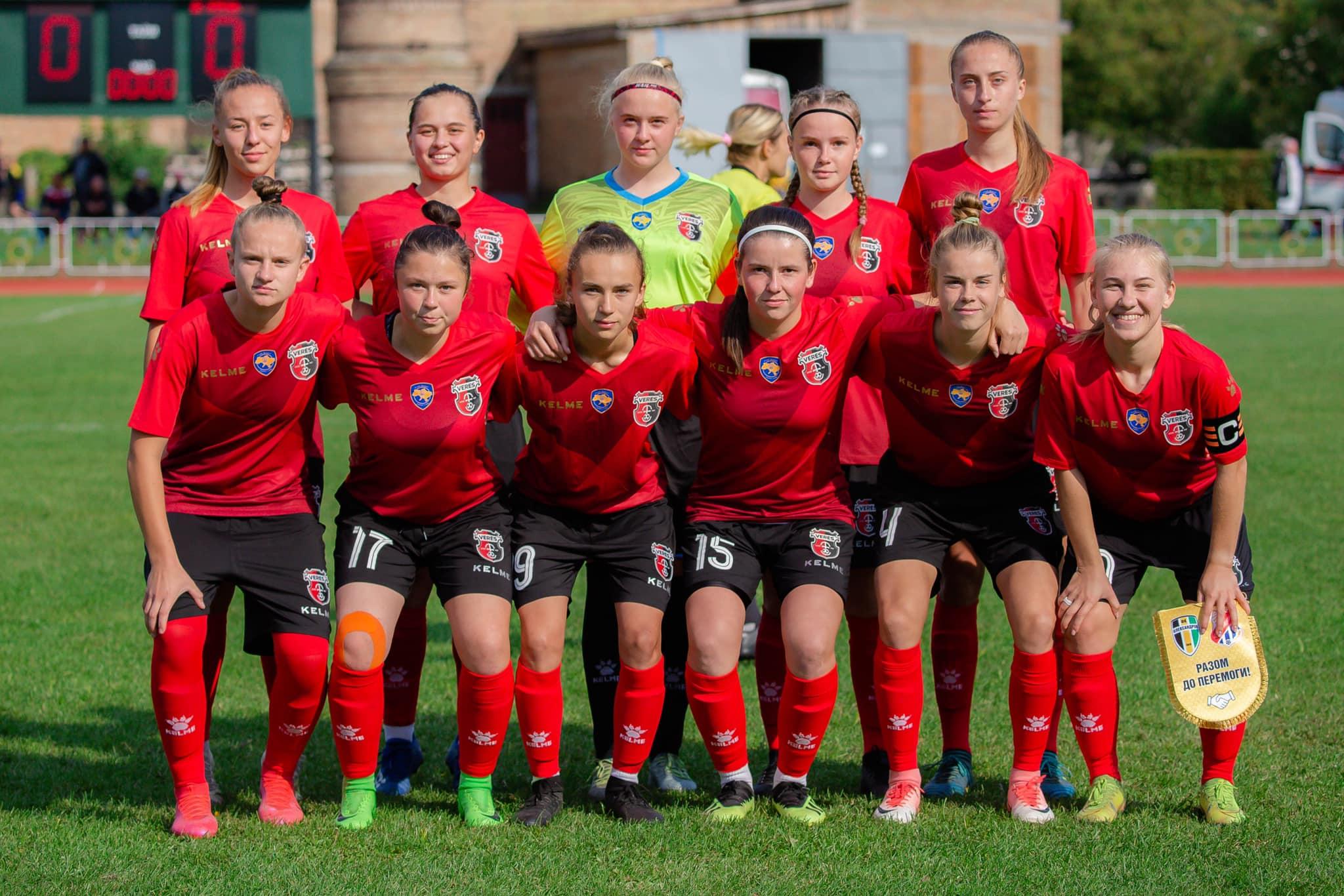 Жіноча команда рівненського «Вереса» вдруге тріумфувала у Першій лізі
